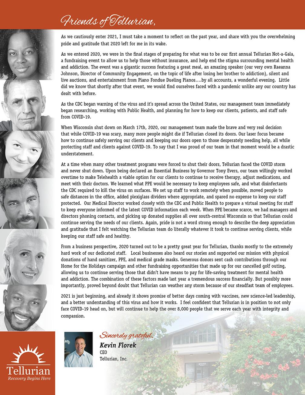 Tellurian Annual Report Letter