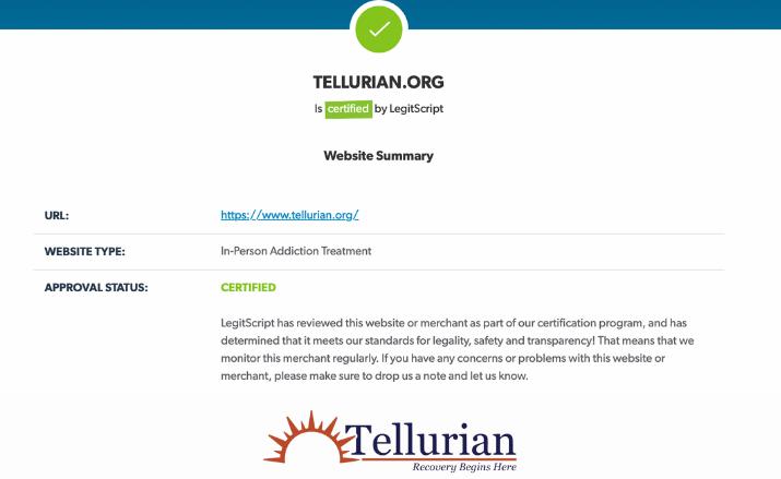 LegitScript Certification